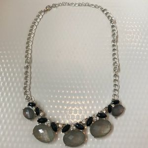 Jewelry - Grey and Black Crystal Statement Necklace